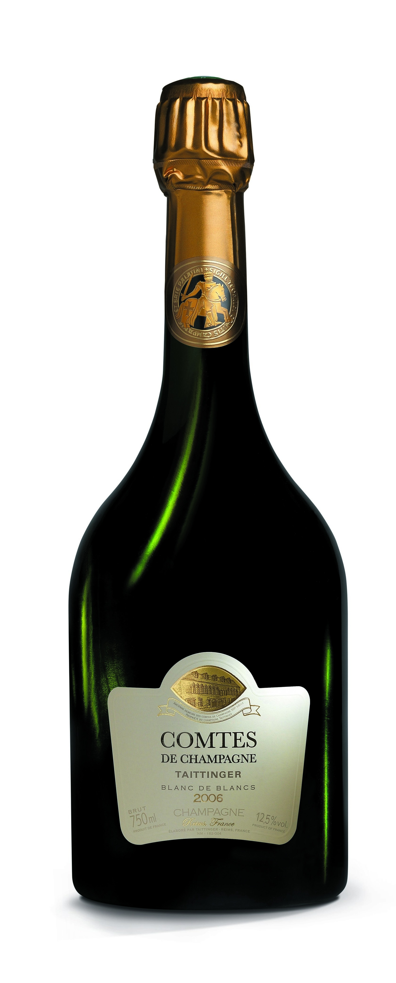 """TAITTINGER COMTES DE CHAMPAGNE BLANC DE BLANCS 2006 - """"Perfecto para una celebración excepcional, este champagne se marida también idealmente con un entrante a base de mariscos, crustáceos finos o pescado""""""""Nunca produciremos grandes cantidades de Champagne Comtes porque los estándares técnicos que elegimos mantener para hacer un vino excepcional son casi únicos en Champagne. Una combinación triunfal de poder y elegancia, Champagne Comtes muestra una eterna juventud que proviene de los mejores Chardonnays de la región. Los conocedores de todo el mundo podrán apreciarlo."""