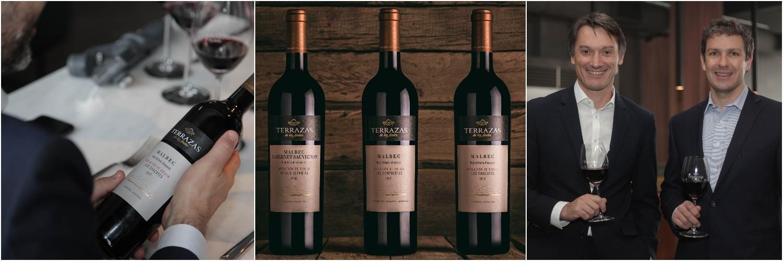 Gustavo Perosio  (Director General de Moët Hennessy Argentina)  y Gonzalo Carrasco  (Enólogo de Terrazas de los Andes) , fueron los protagonistas de una innovadora presentación que incluyó un recorrido inmersivo de 360° en cada uno de los viñedos de donde provienen estos nuevos vinos.