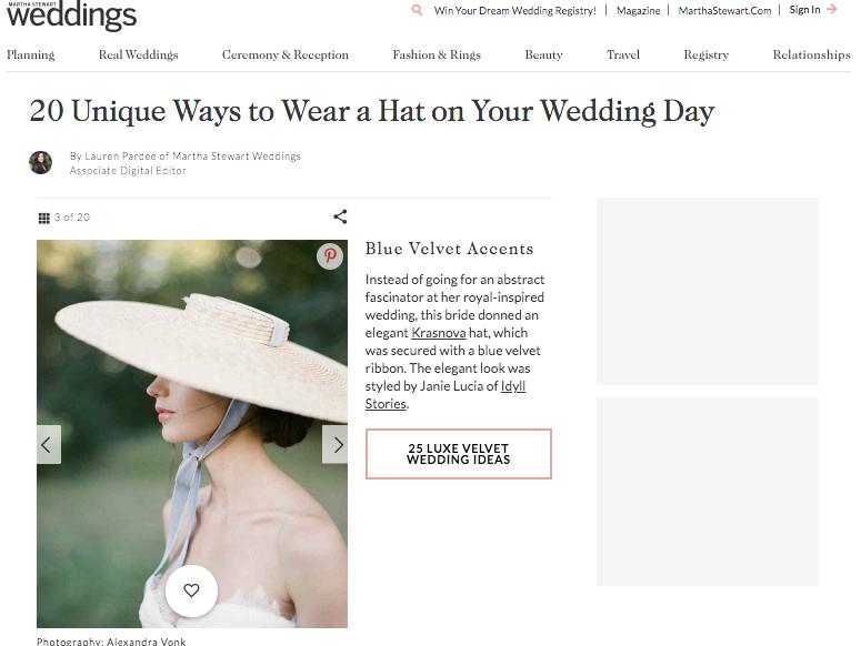 Martha Stewart Weddings Article