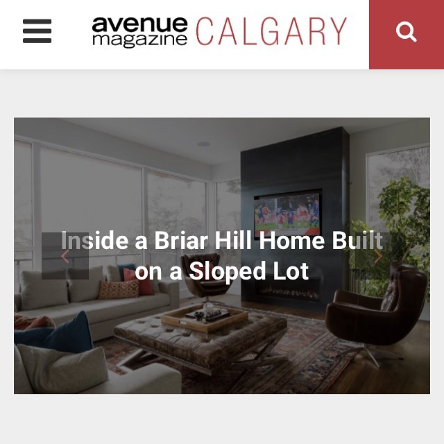 Front page on the Avenue Magazine site today our Briar Hill custom build. Check it out at www.avenuecalgary.ca or pick up a @avenuemagazine copy at your local coffee shop! Interior design by @in.house.design  Link to article https://www.avenuecalgary.com/shopping-style/home-decor/inside-a-briar-hill-home-built-on-a-sloped-lot/?utm_source=Avenue+Calgary+Newsletters&utm_campaign=0287b225e2-EMAIL_CAMPAIGN_2019_05_02_08_03&utm_medium=email&utm_term=0_3dc3258fec-0287b225e2-290297201  #yycre #yycrealestate #teamwork #yychomes #yycdesign #yycbuilder #customhomebuilder #luxury #yycinteriordesign #luxuryhomes