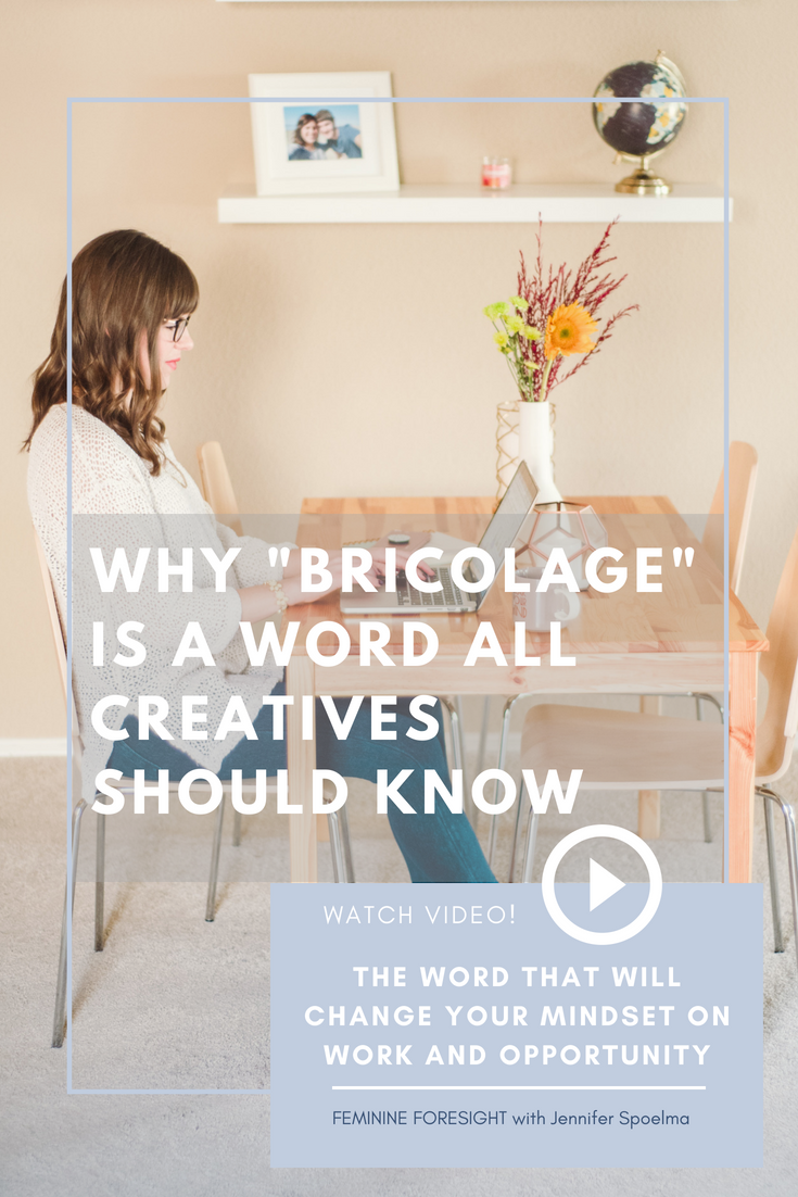 << Pin it! - Bricolage is the positive state of 'making do with what's at hand'.Instead of focusing on the resources you lack, bricolage forces you to rely on my breadth of knowledge and skills to create something new--something unique to you.It is at the heart of creativity and innovation.Discover how the concept of bricolage can revolutionize your creativity and work in this episode of Feminine Foresight!