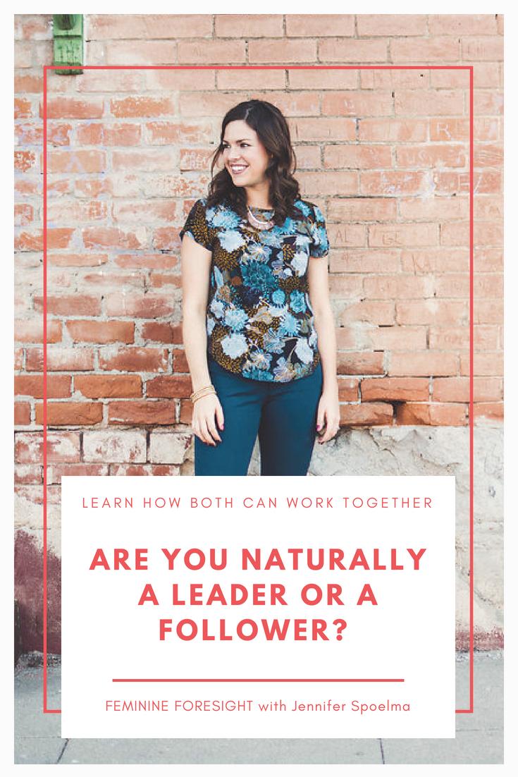 Are you a leader or a follower? | Jennifer Spoelma
