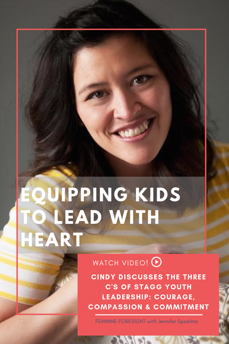 << Pin it! - This is an interview with Cindy Stagg, founder of Stagg Youth Leadership.Cindy speaks at schools and youth organizations teaching kids how to practice leadership through courage, compassion & commitment.Her insights on leadership and empowering kids to step into their potential astound me. If you have kids, work with kids or just like kids, this episode will astound you too!