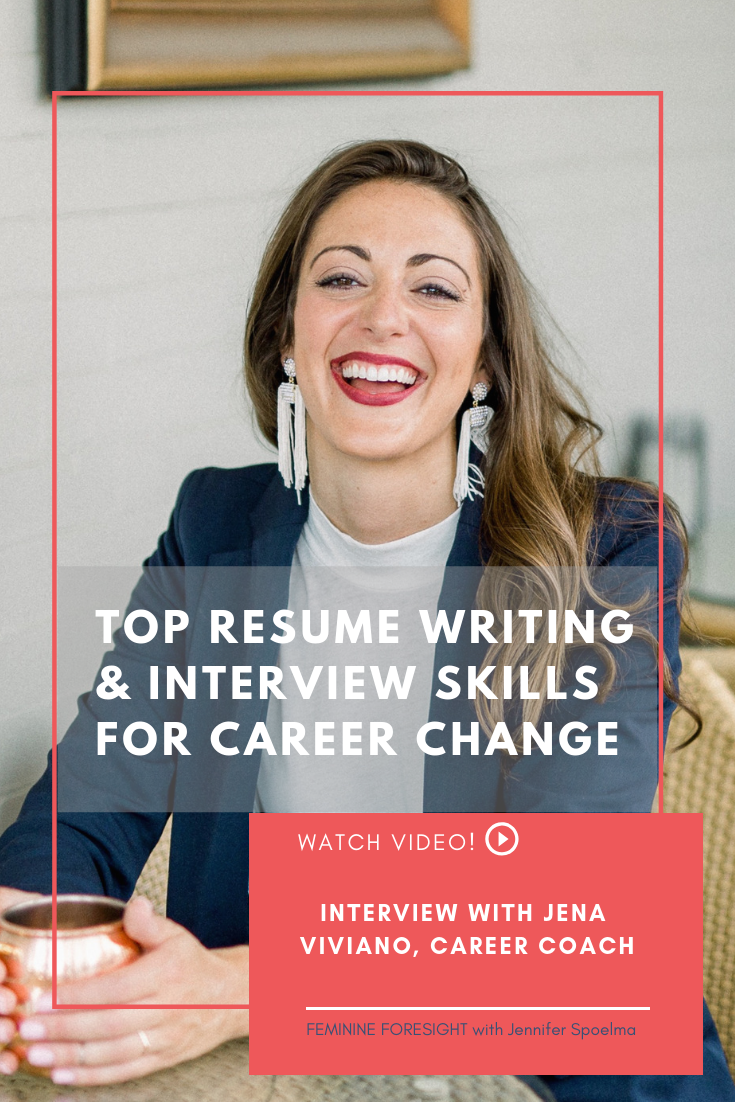 << Pin it! - Is change be on the horizon for you?In this video interview I ask Jena to share her top tips about resume writing, interviewing and how to decide when to make a career change.If you've been thinking your career might need a shake up in the near future, this episode is for you!