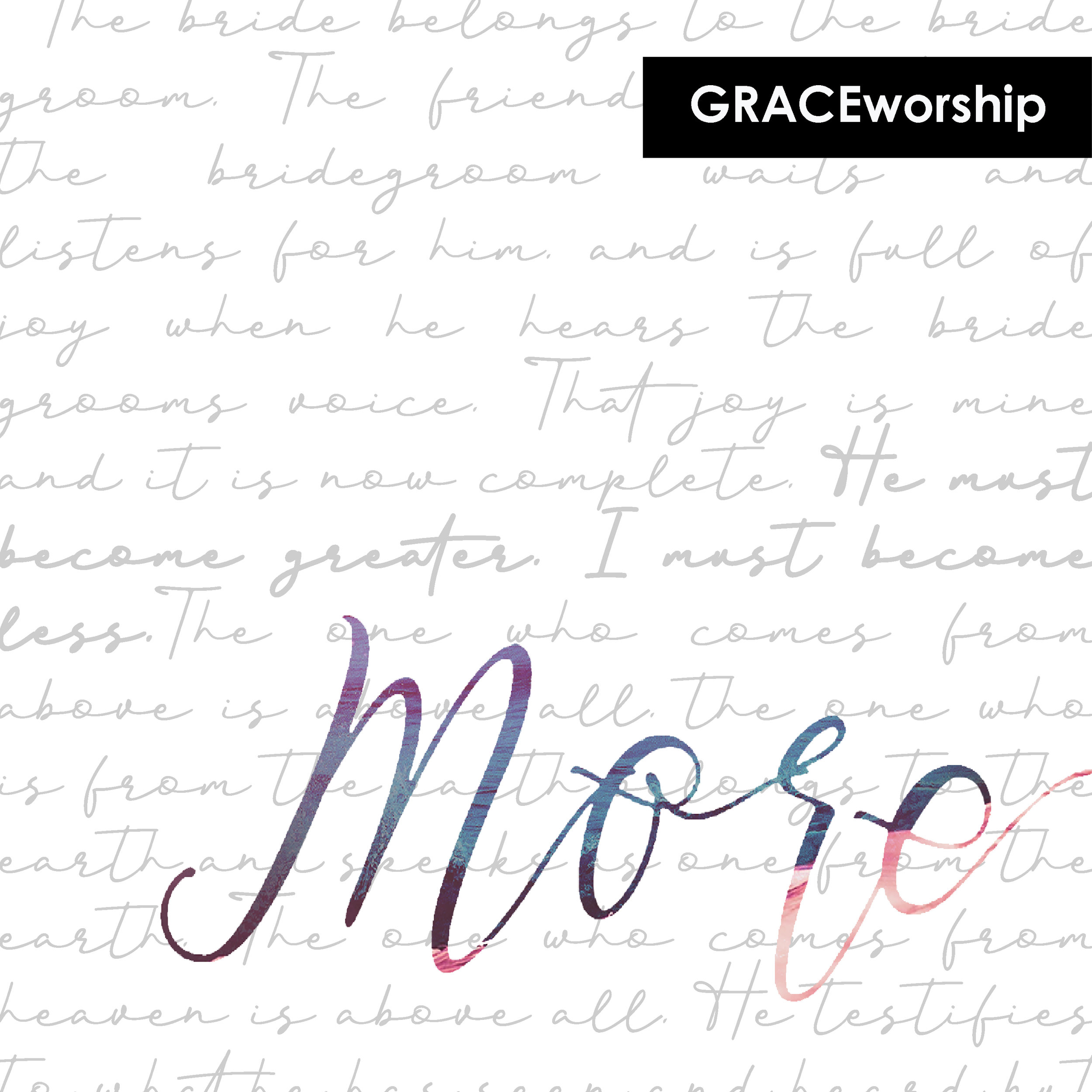 "GRACEworshiporiginal single ""MORE"