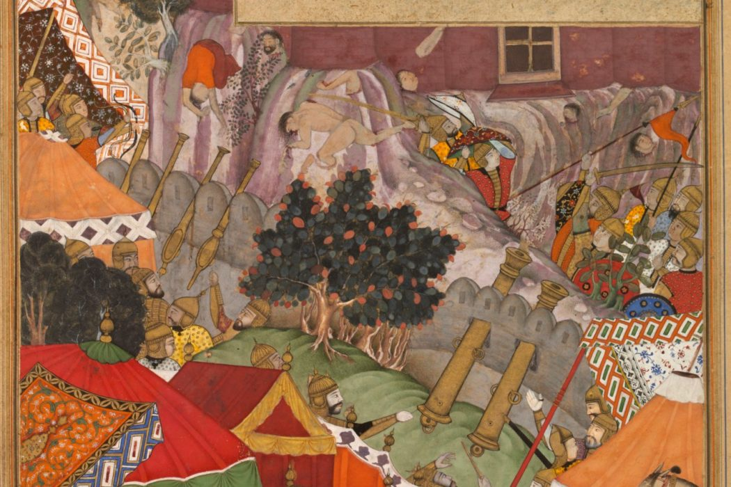 The Jauhar of Rajput women at Chittorgarh as shown in Akbarnama, V&A Museum, Public Domain.