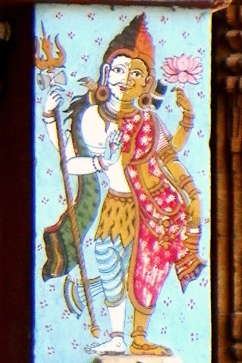 Ardhanareeshwara from Lingaraj Temple, Bhubhaneshwar. Source:  Flickr