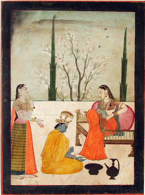 Shri Krishna painting Shri Radha's feet at San Diego Museum of Art. Source:  Flickr