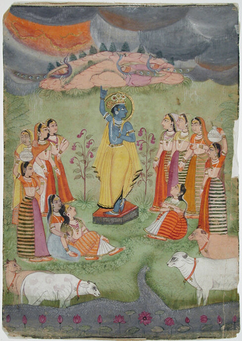 Giri Govardhan by Mihir Chand. San Diego Museum of Art. Source:  Flickr