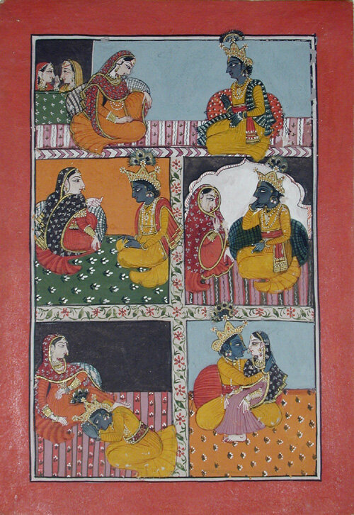 Rasikapriya, Created: early 19th century.  San Diego Museum of Art.  Flickr