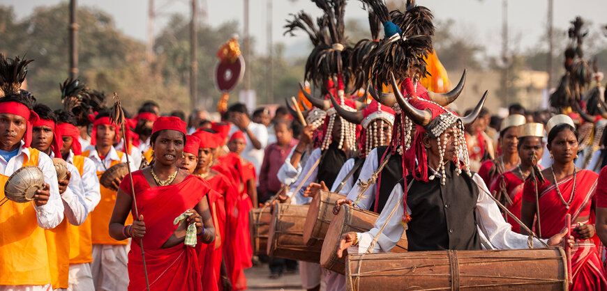Women participating in Dussehra procession of Bastar