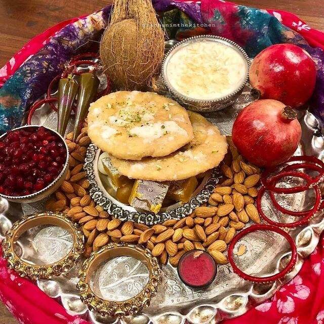 Sargi thali prepared for Karvachauth. Image:  Google