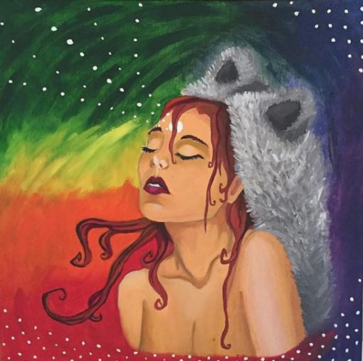 """Psychic Rebel"" | Oil on Canvas | 12in x 12in"