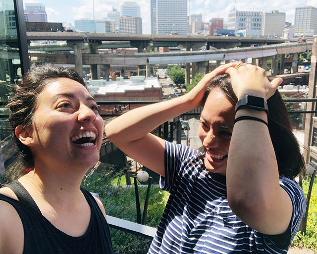 This is the image to represent our Koriko Summit 2019, full of bad angles, harsh lighting, and extreme silliness. ☀️🤡 . A week in Richmond, VA, reunited, and equal parts proud of ourselves and frustrated by our people pleasing-attitude, we were finally able to communicate openly and in-person. . We'll have so much to share by the end of the summer as we grow and focus on what we ACTUALLY want to do — and not follow what everyone else is doing. Even if it's proven to be successful. What's the point if we don't enjoy it? . And so we began to define + align. Can't wait to see what happens next (cuz we have no clue!) Check out our Stories for a run-down of the week (and our Highlights after today). We already miss each other! ❤️👯♀️ #everydaykoriko