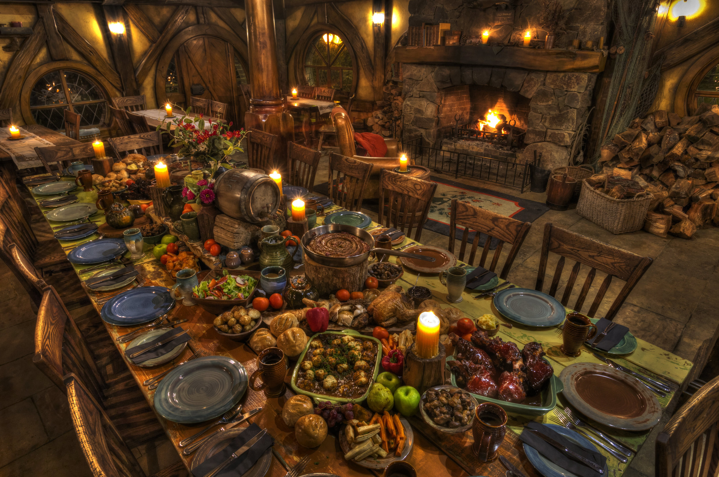 """The hobbiton Evening Banquet"" Pull up a Chair and dig in don't forget second Helpings are encouraged & 3rds & 4ths $5ths ........................."