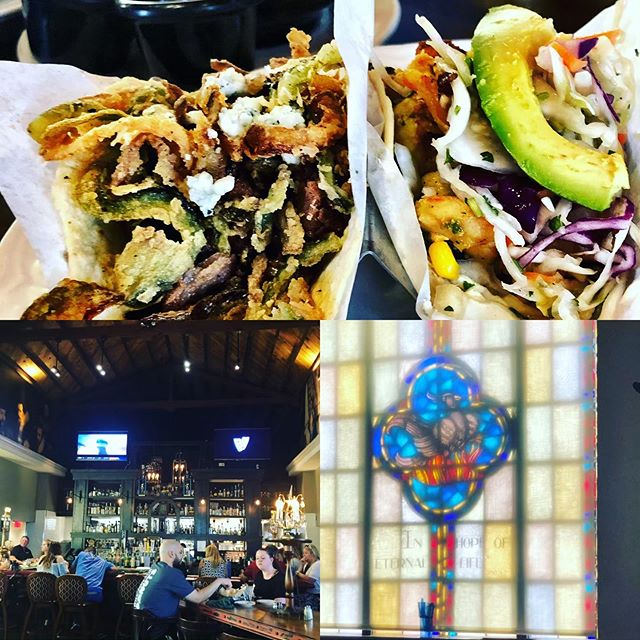 Taco Guild...when someone turns a church into a Taco sanctuary!! 🙌🙌 Award winning ...Chipotle Cherry Steak Taco and Clandestino Shrimp Taco 🌮🌮🌮🌮🌮🌮 #brilliant #blessing #yummy #godisgood #foodie #guacamole #tequila #beer #foodlover #tacos #arizona #phoenix #mexicanfood #tequila #salsa #beans #spiritual #goodeats  @tacoguild @visitphoenix @brookey_54