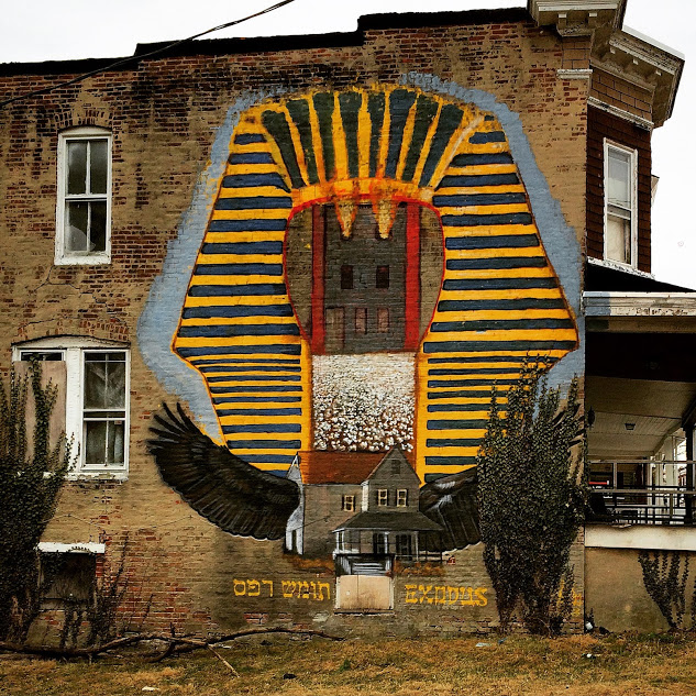 """Exodus Mural by GAIA for the 2013 """"Slumlord Project"""""""