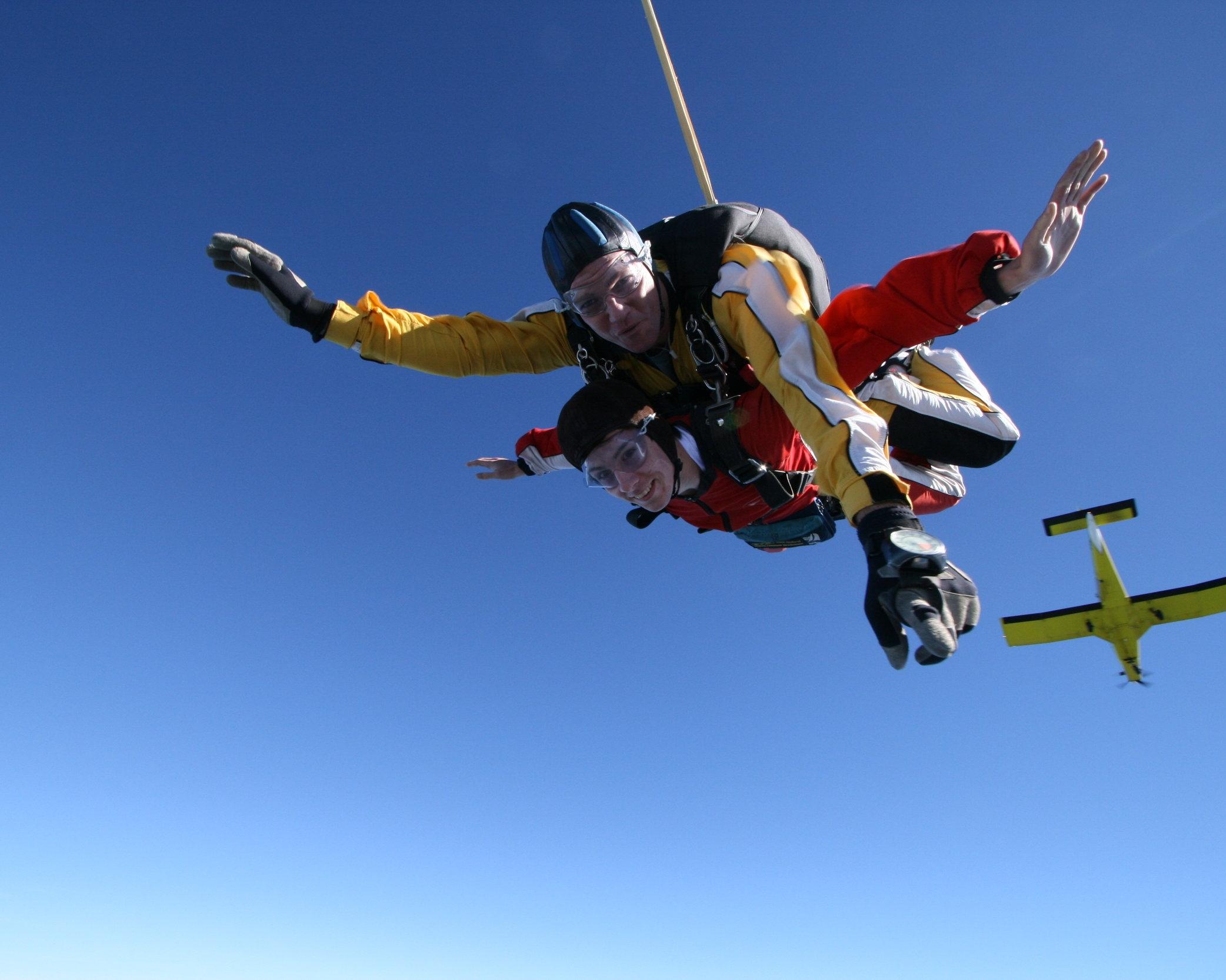 - skydiving