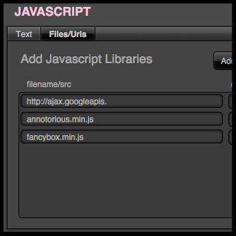 Add Javascript Libraries to FileMaker