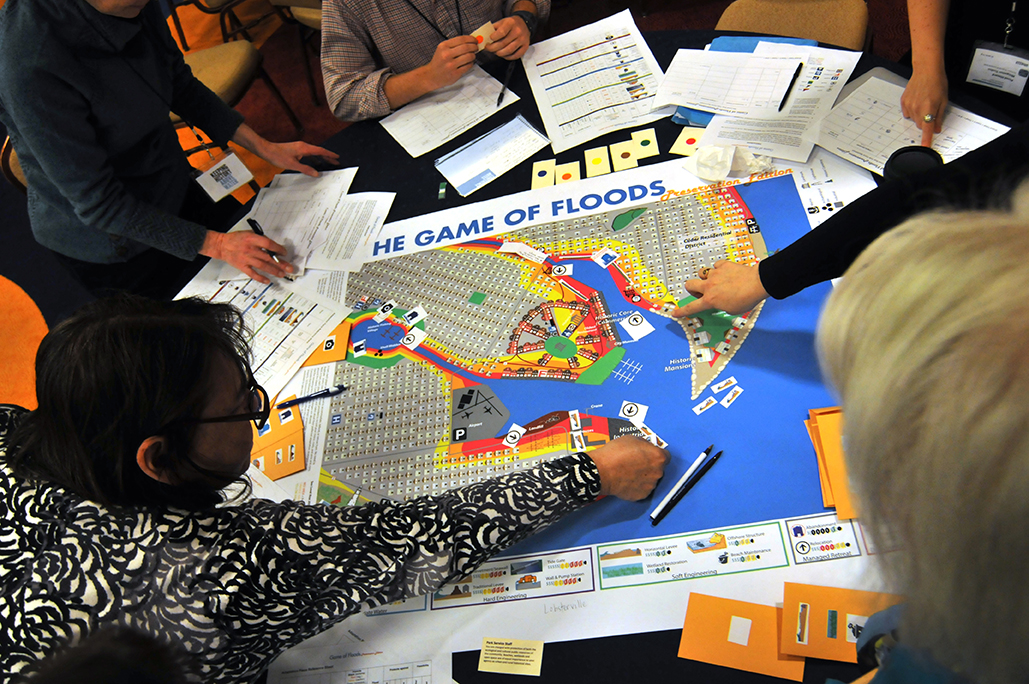 Game of Floods - Created by community planners, the Game of Floods is an interactive way to learn about the tough decisions that have to be made to create a more resilient community. Play the game with your friends!