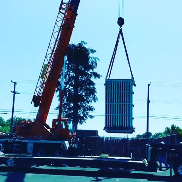 They just don't make them like they used to.  Decommissioning of a 5MVA 12kV/4.1kV Delta to grounded WYE Westinghouse transformer.  Nothing but solid copper core and 3/4in steel.  No job too big or small.  #lompoc #service #santabarbara #solvang #Buellton #santamaria #electrician #electric #homes #homeideas #contractor #construction #remodel #homerenovation #electricians #beautifulhomes #hgtv #santaynez #transformers