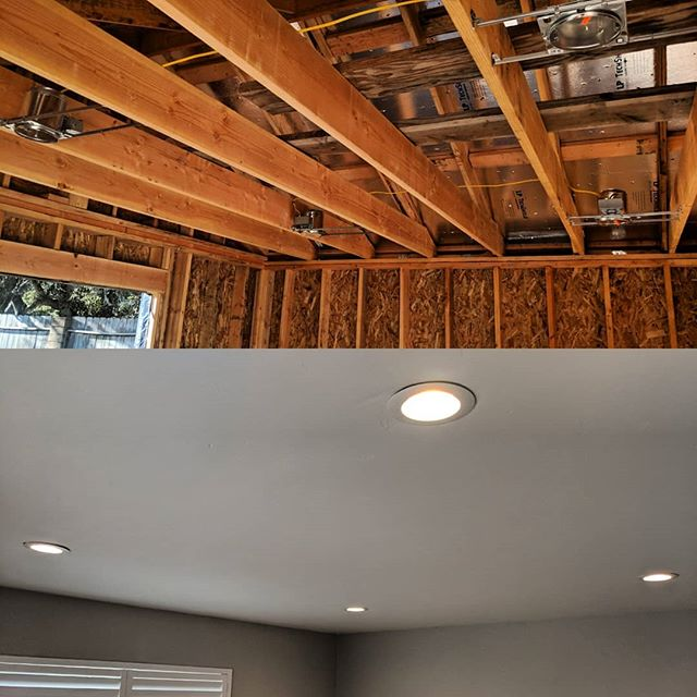Recessed lighting makes any room look great!  From design to final touches we are happy to help our customers make their dream home come true.  We love our community; we love what we do.  #lompoc #service #santabarbara #solvang #Buellton #santamaria #electrician #electric #homes #homeideas #contractor #construction #remodel #homerenovation #electricians #beautifulhomes #hgtv #santaynez