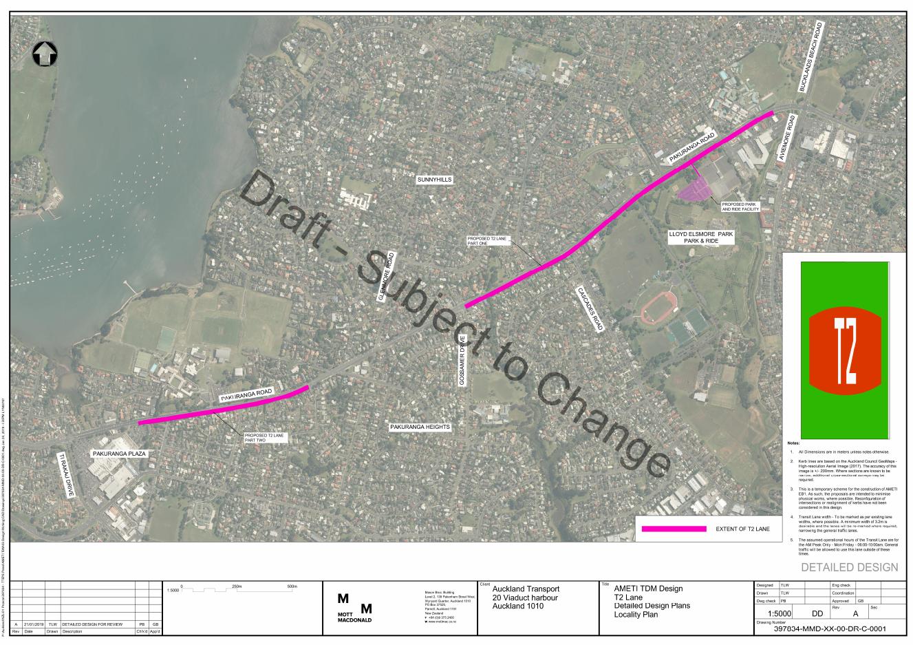 Pakuranga Road - Transit Lane draft map.PNG