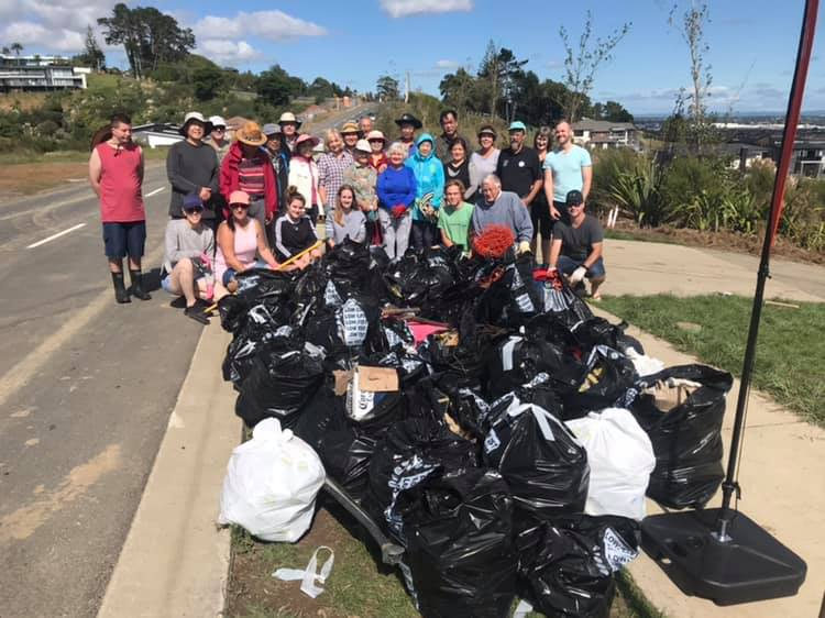 Over 30 volunteers helped collect and dispose of a big pile of rubbish in a good mornings work