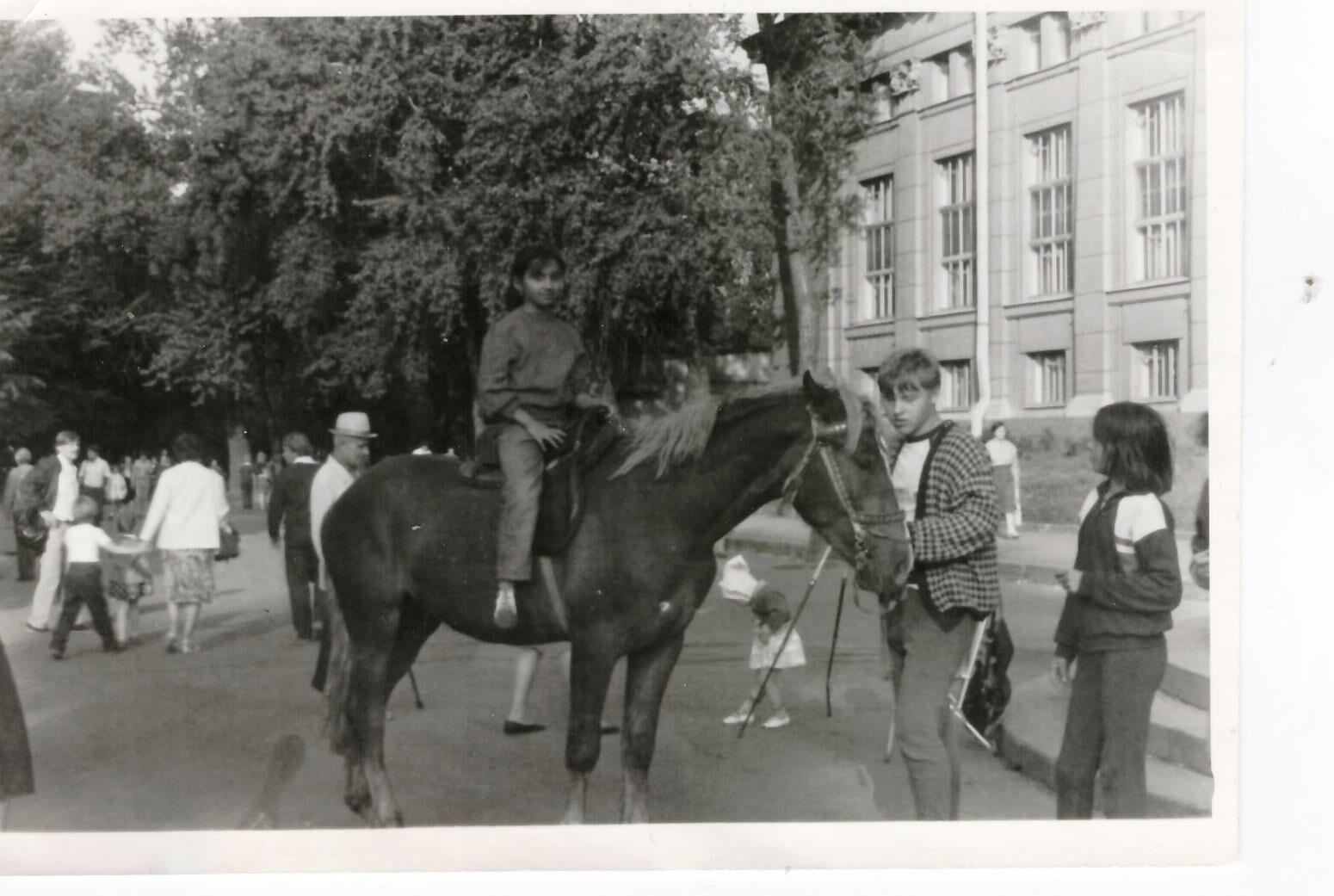 Horseback riding in Leningrad