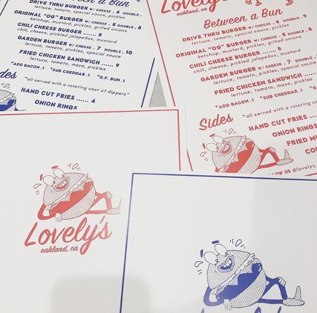Lovely's, Oakland - burger logo