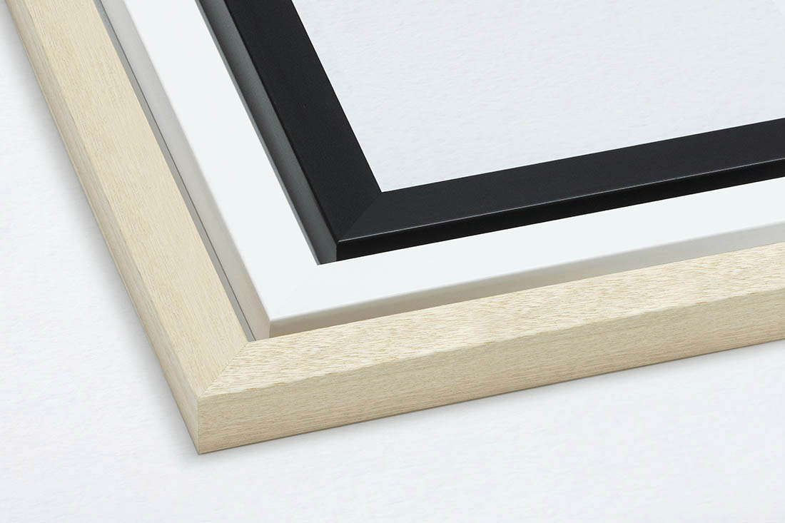 FRAMING - Professionally custom framed by hand here in Sydney, delivered to you and ready to hang.Available in Black, White or Raw timber finish. We use Australian timber with a contemporary face width of 3cm and depth 3cm (approx) which has a serious presence as an artwork piece.All framed artwork comes ready to hang with cord and felt wall protectors.