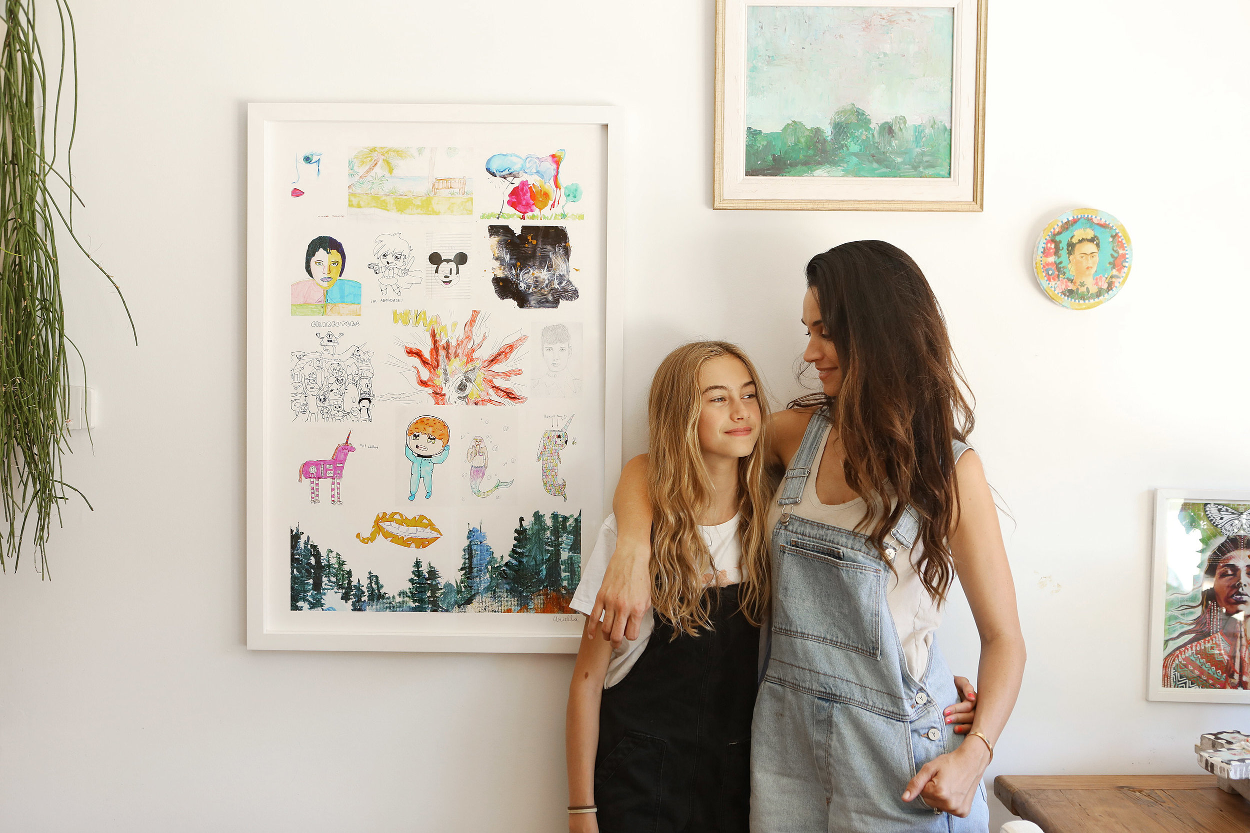 Our 11 year old feature artist Ariella, with Mum, Gemma ( Photography by Jody Pachniuk)