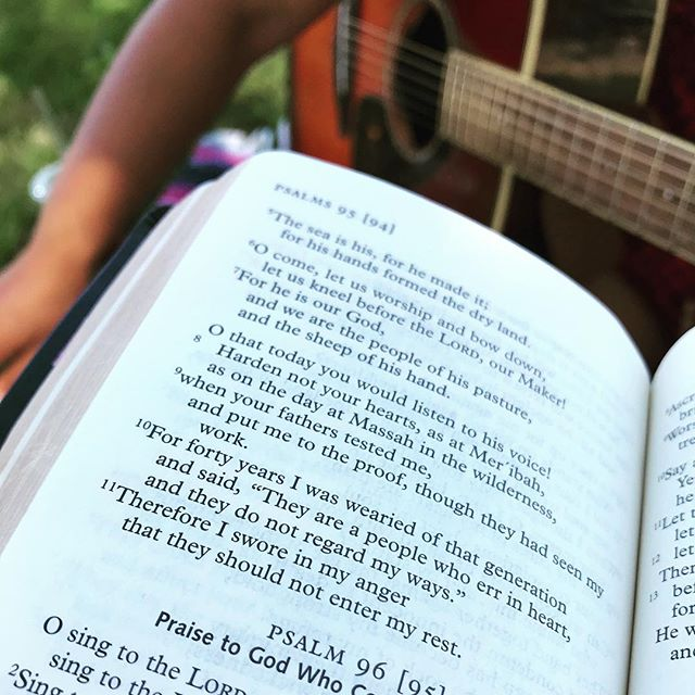 For those who participated in the Prophetic Singing Track: Chentel started singing Lectio Divina yesterday in the park. Have you made a commitment to sing the Bible?