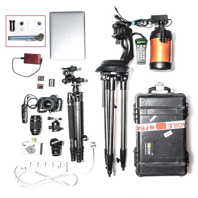 TINY1 system versus typical telescope/DSLR camera setups