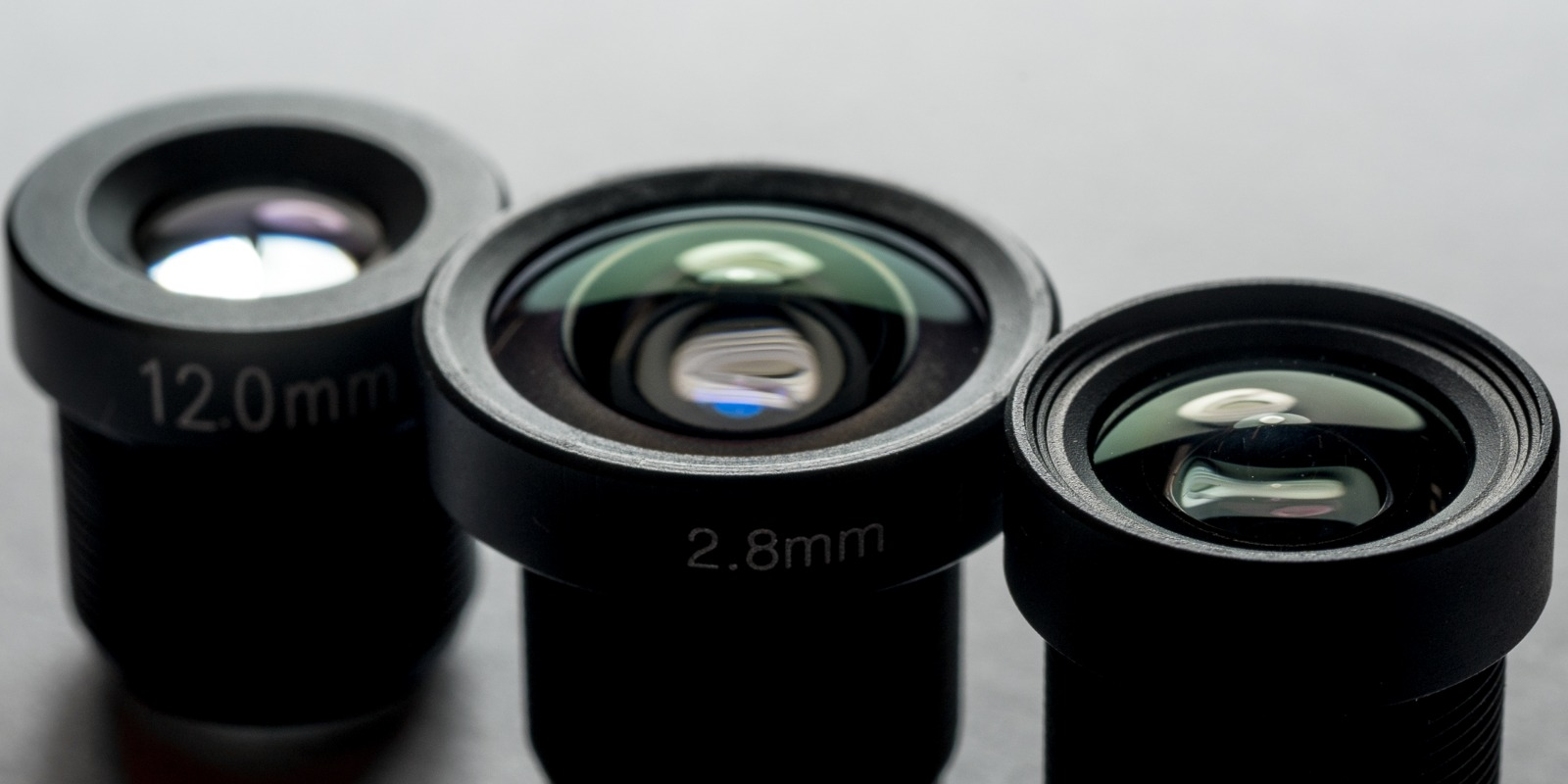 Our new range of M12 large F ratio lenses