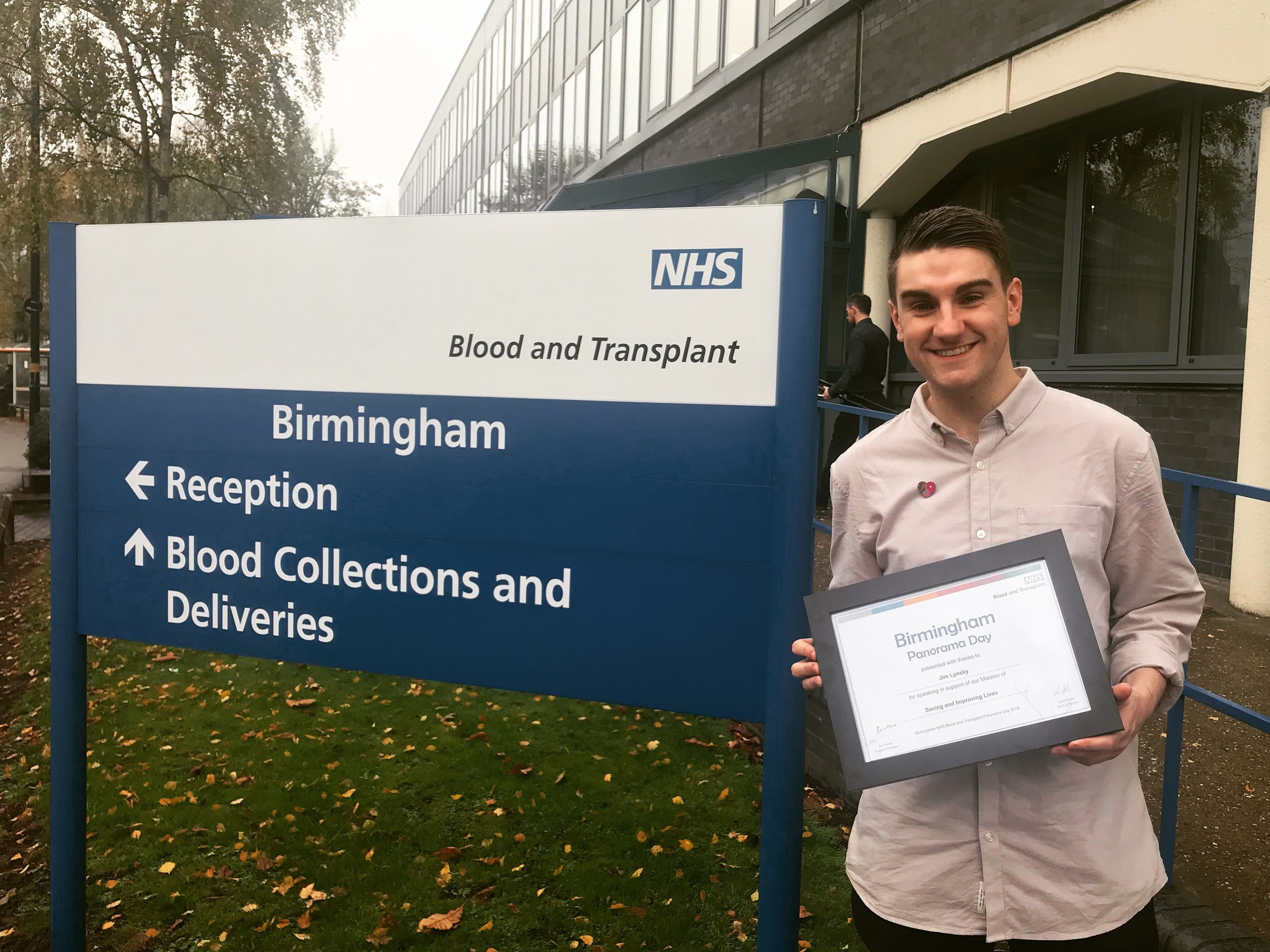 Save9Lives Founder - Jim Lynskey - shares his campaign with members of NHS Blood & Transplant.