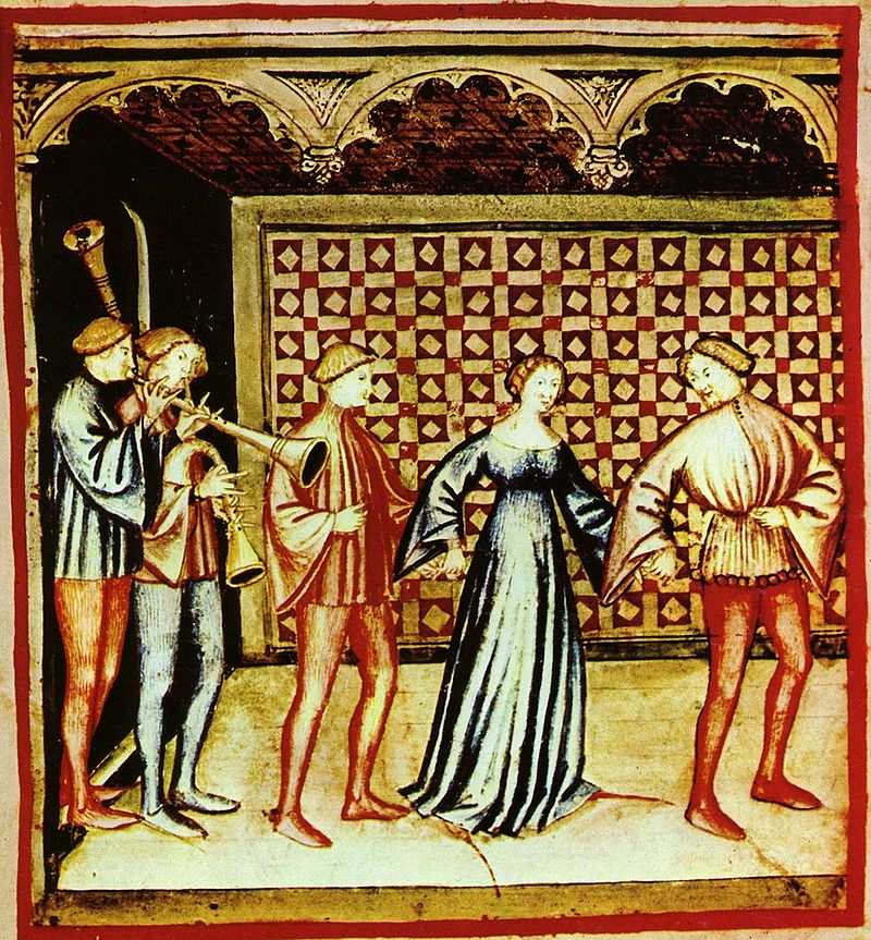 Tacuina sanitatis (XIV century) 0-svaghi,suono e ballo,Taccuino Sanitatis, Casanatense 4182  Public Domain