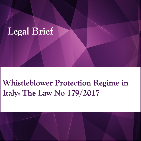 Whistleblower Protection Regime in Italy