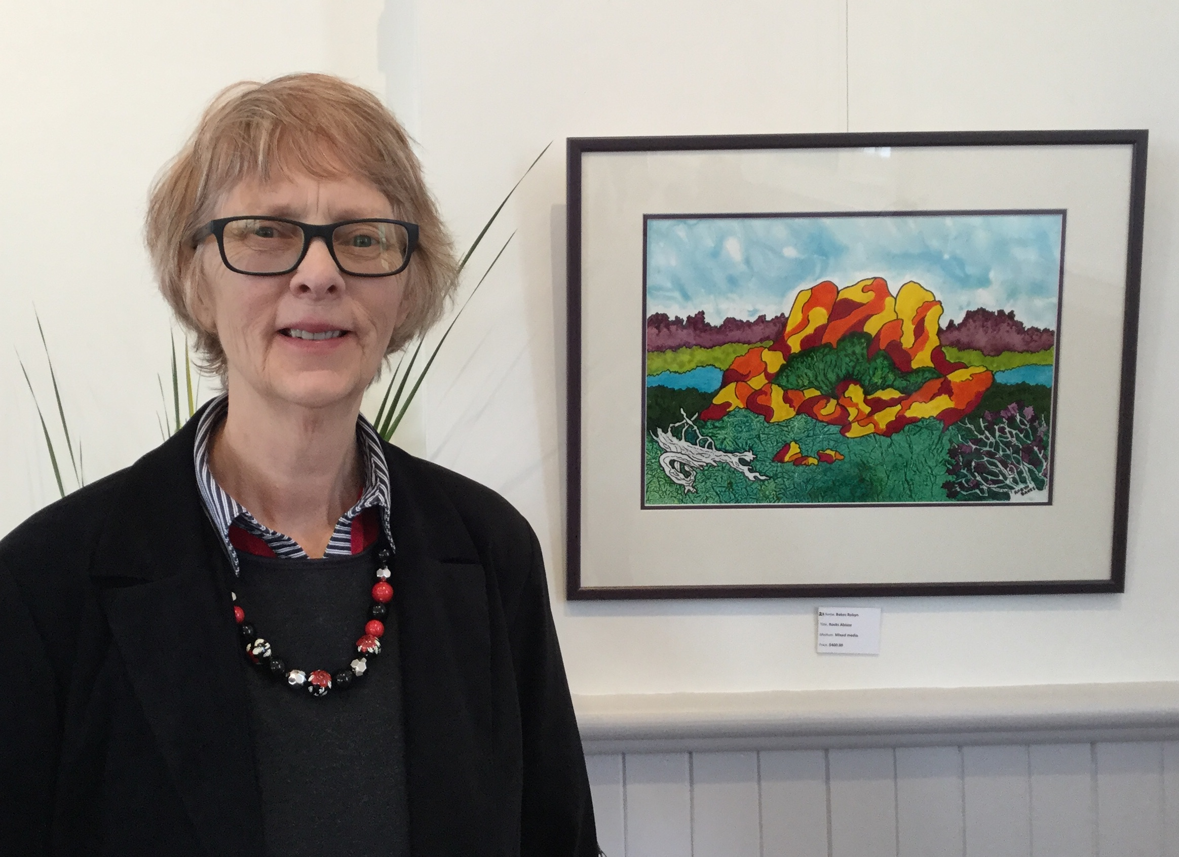 Robyn Bakes Anita Dow Highly Commended Rocks Ablaze