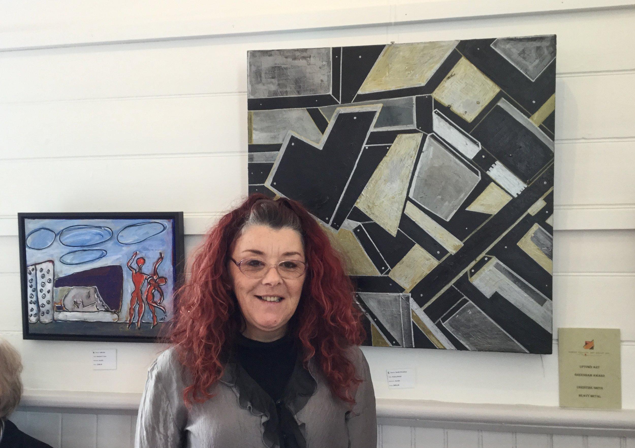 Greenham Award winner Christine Smith with her work Heavy Metal