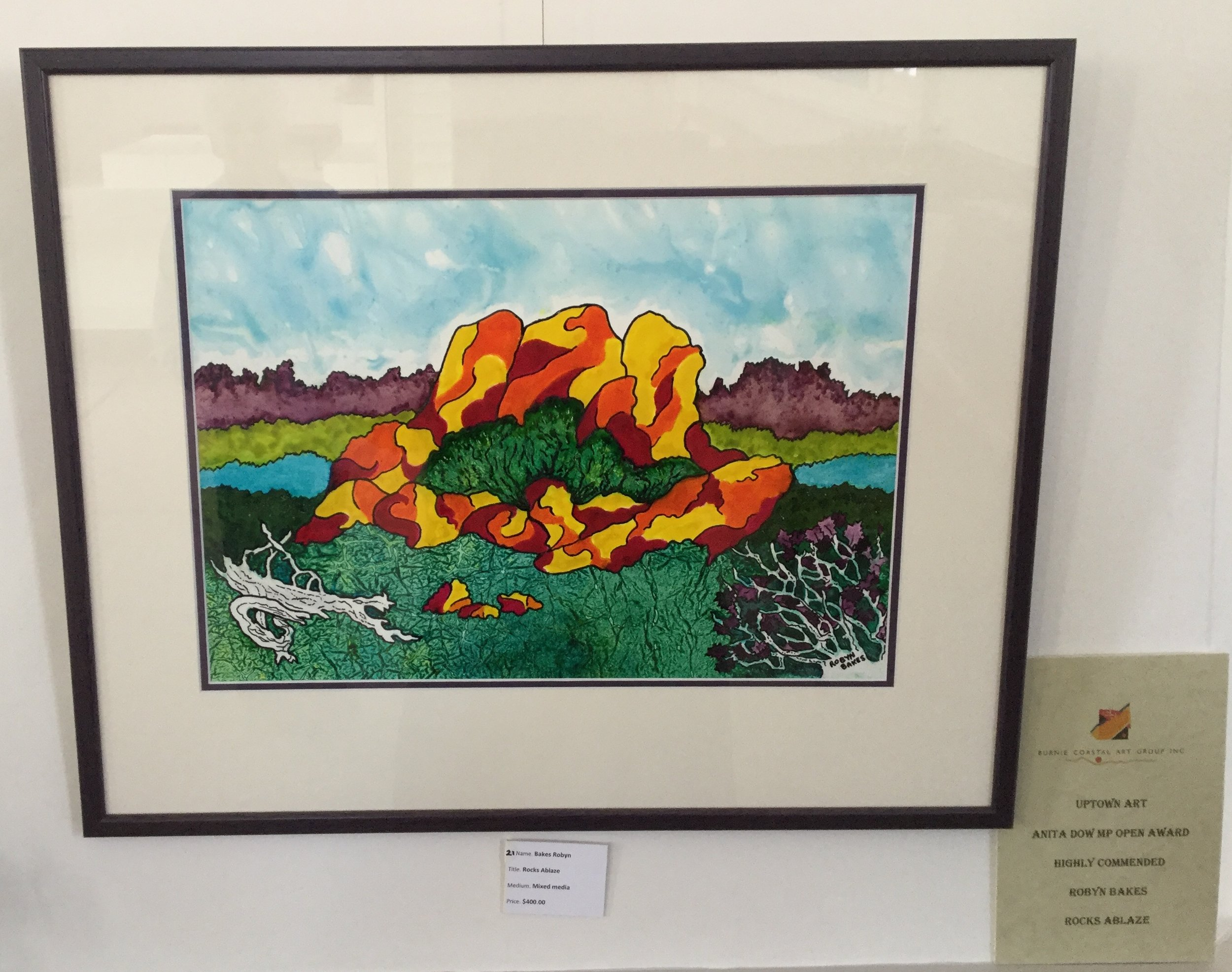 Rocks Ablaze by Robyn Bakes