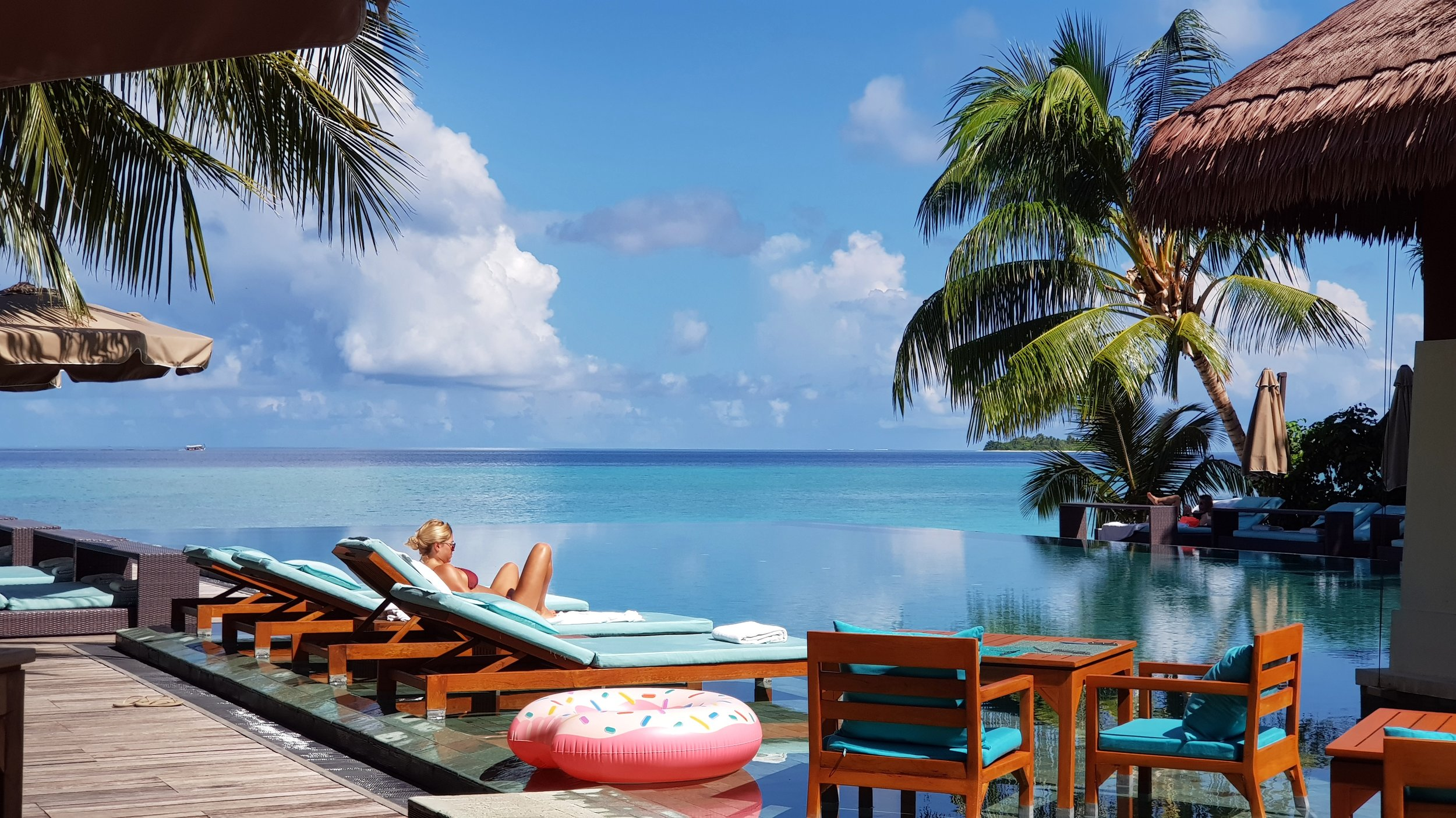 Zero Degree Pool Bar at Ayada Maldives