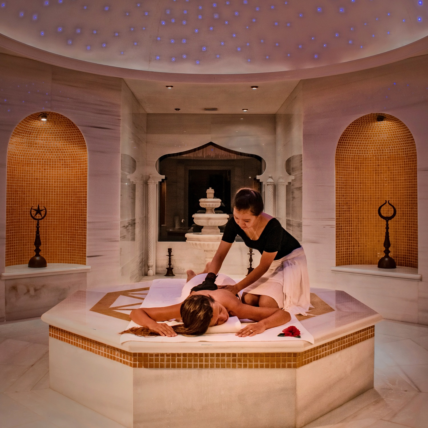 Turkish Hammam - Inspired by one of the oldest cleansing traditions in the world, the Hammam Turkish Bath is a purifying and refreshing ceremony that promotes well-being for body and mind.Discover our signature treatment, the