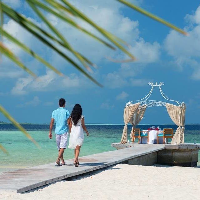"Beautiful Wedding locations - We offer a variety of exciting locations to host a picture perfect wedding.You can choose to go have your ceremony on the white-sand beach with the turquoise ocean providing a beautiful backdrop - or you can even use our ""dhoni"", a traditional Maldivian boat to sail out and celebrate in an extravagant way.Open our brochure to discover all location options."