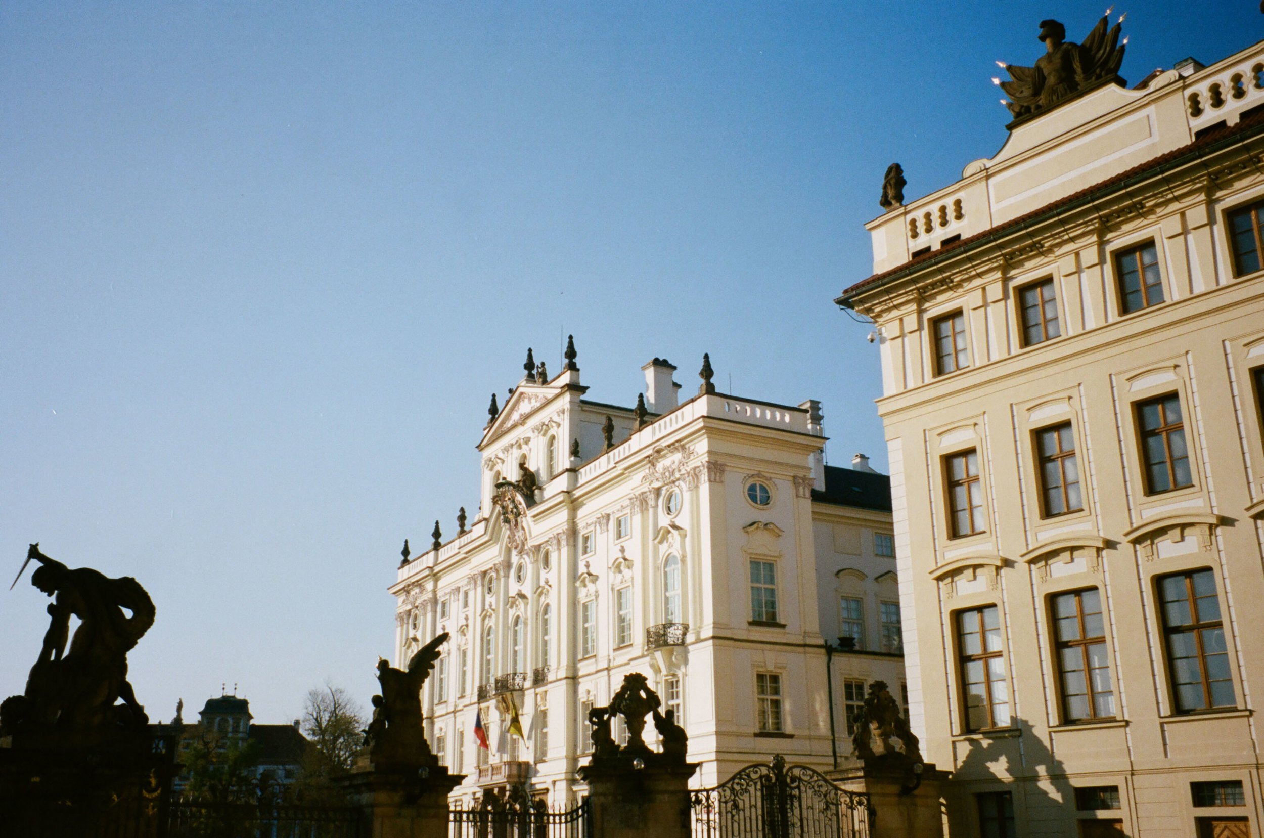 Beautiful architectural buildings located nearby Prague Castle