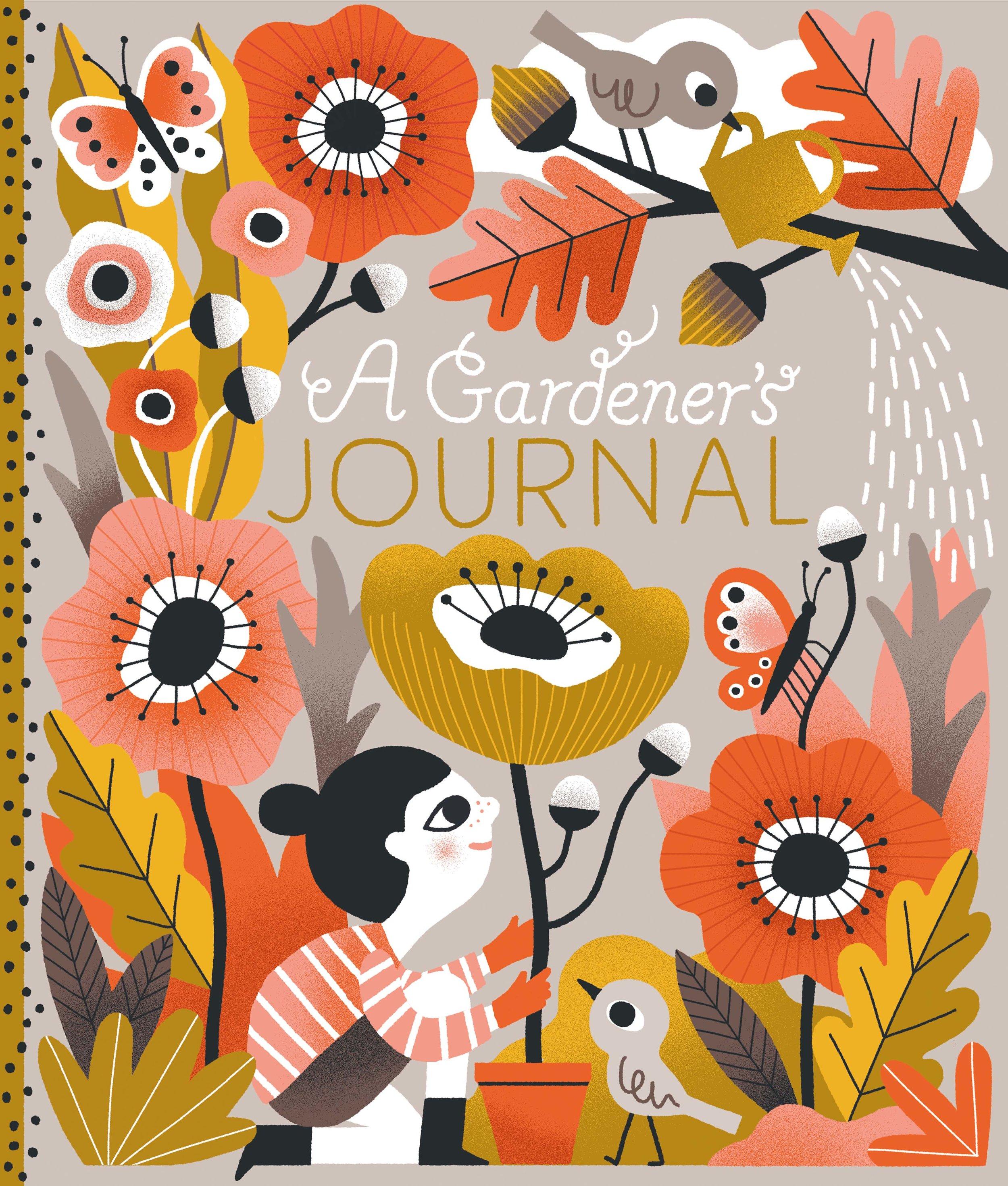 Cover idea for a Gardener's journal for children.