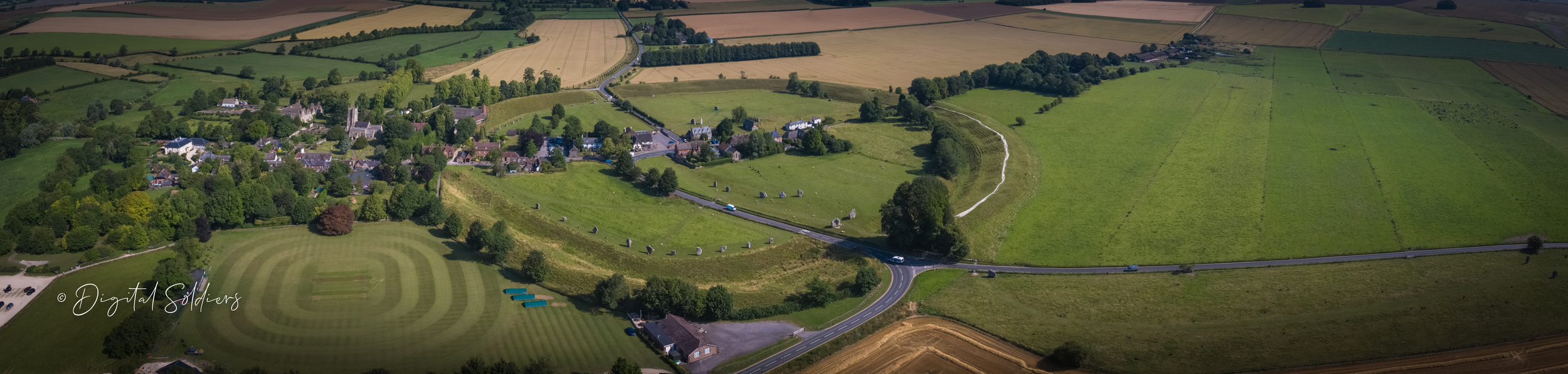Avebury Stones from the air