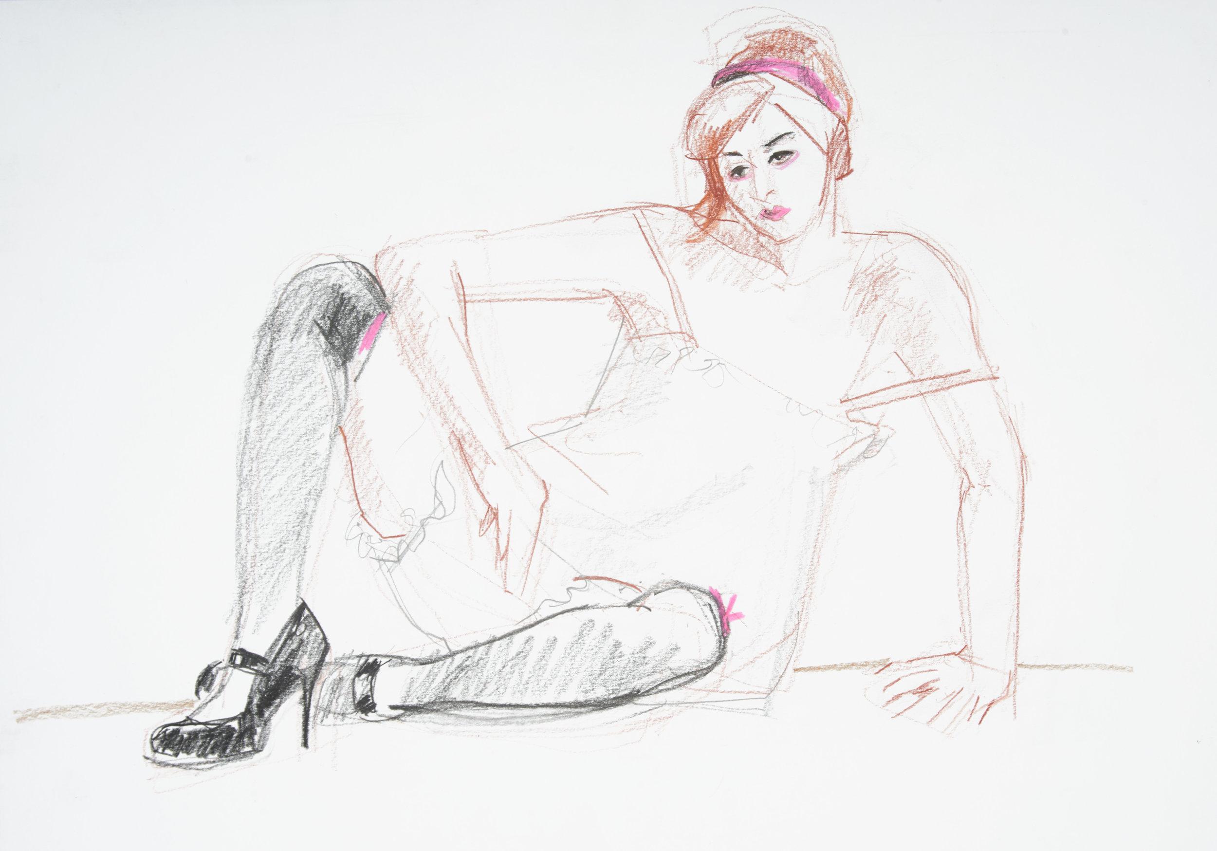 coloured pencil, graphite on paper  A2