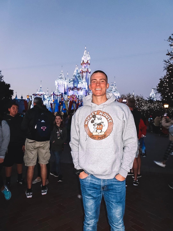 Joe in front of the castle.jpg