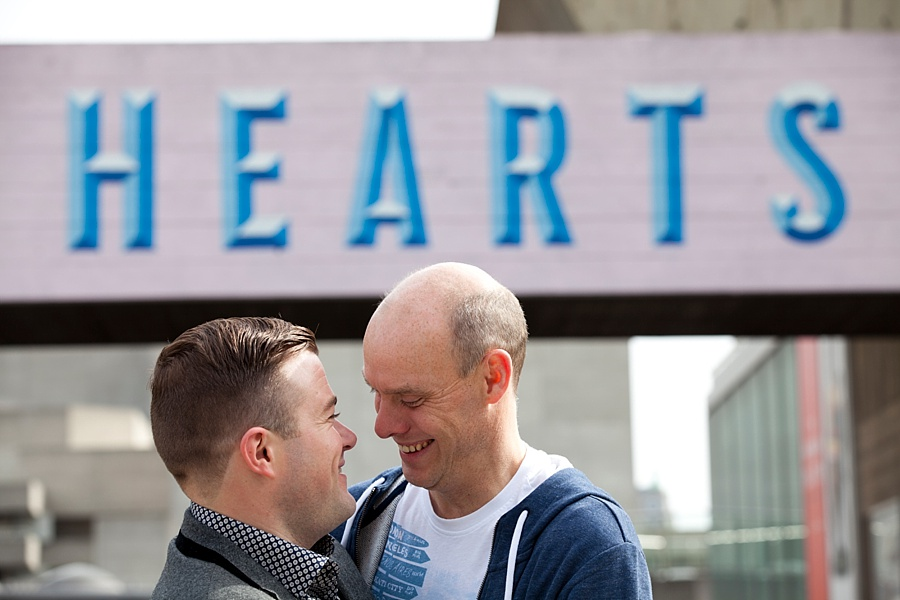 Gay couple engagement shoot